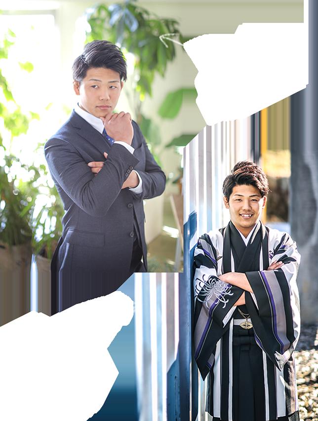 男子成人式 スーツ&袴イメージ