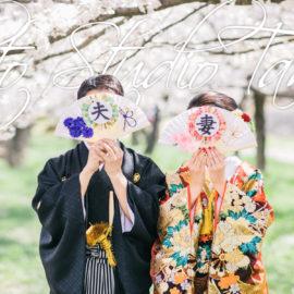 桜と和装とたくさんの撮影小物!!