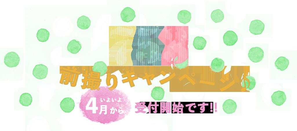 田中写真館の七五三前撮りキャンペーン いよいよ4月から受付開始!!